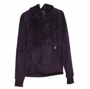 The North Face Fuzzy Plush Purple Sweatshirt